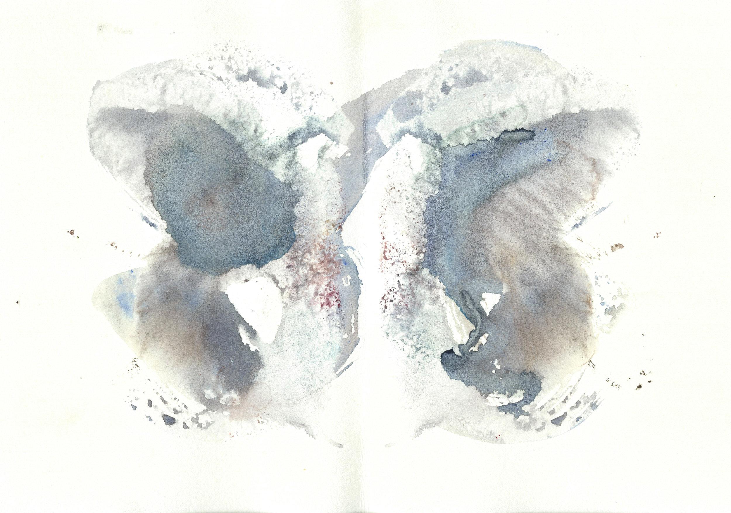 Stephen Thomas, Yoga, Yoga-Svarupa, watercolor 03