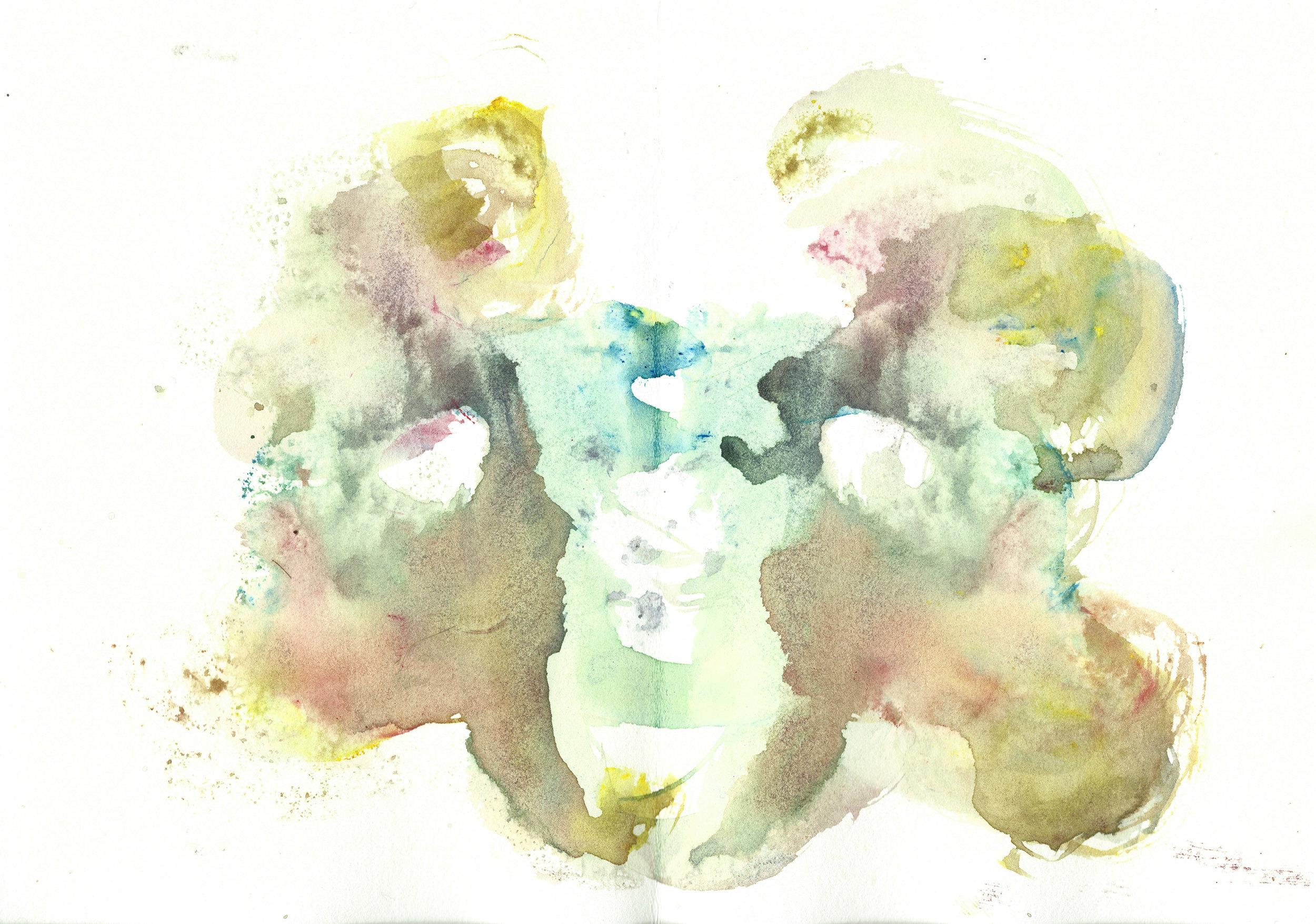 Stephen Thomas, Yoga, Yoga-Svarupa, watercolor 02