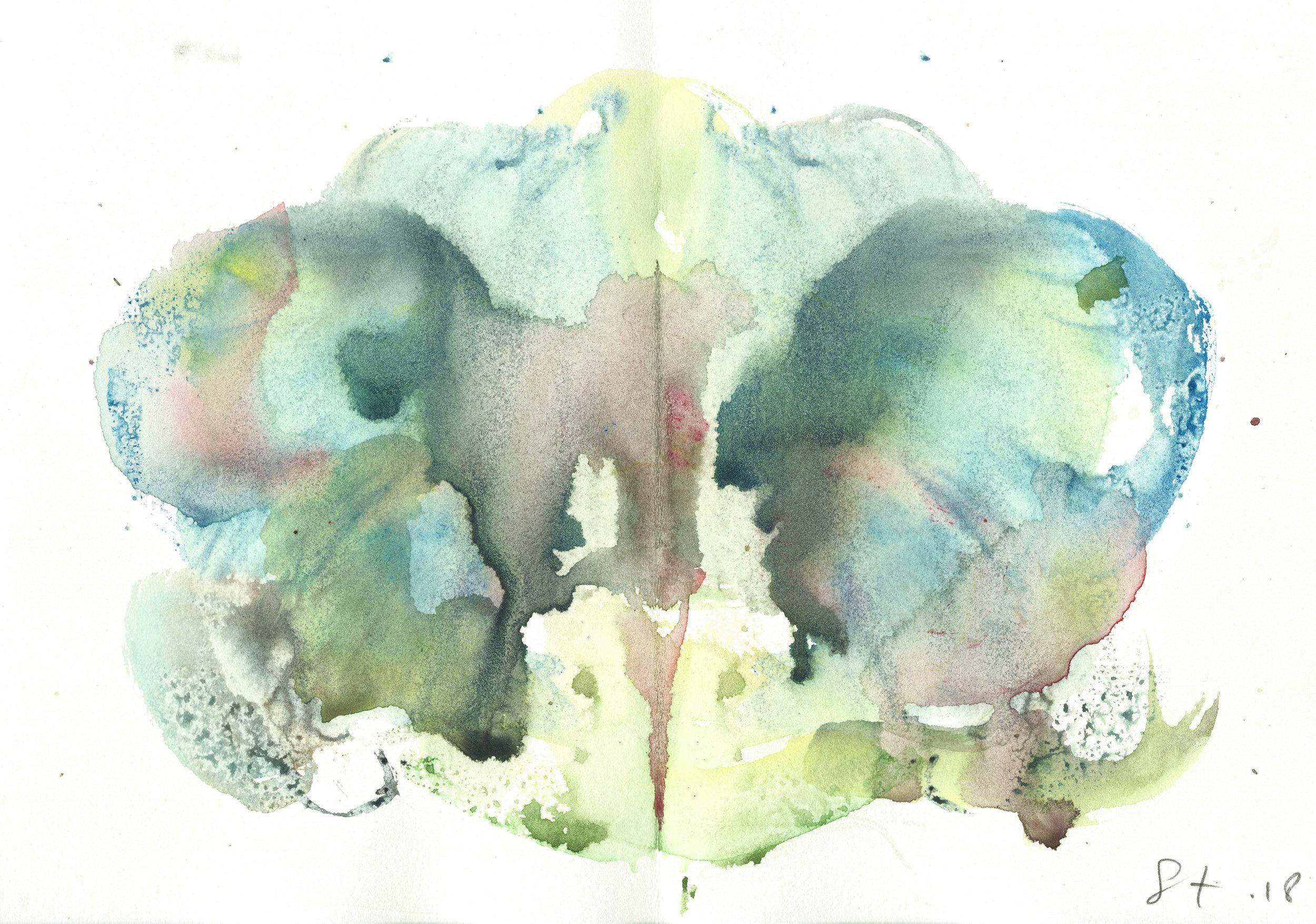 Stephen Thomas, Yoga, Yoga-Svarupa, watercolor 01