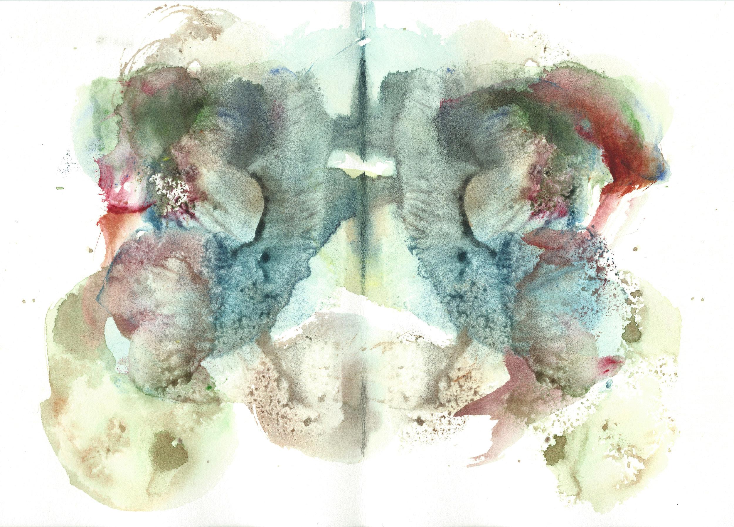 Stephen Thomas, Yoga, Yoga-Svarupa, watercolor 06.jpg
