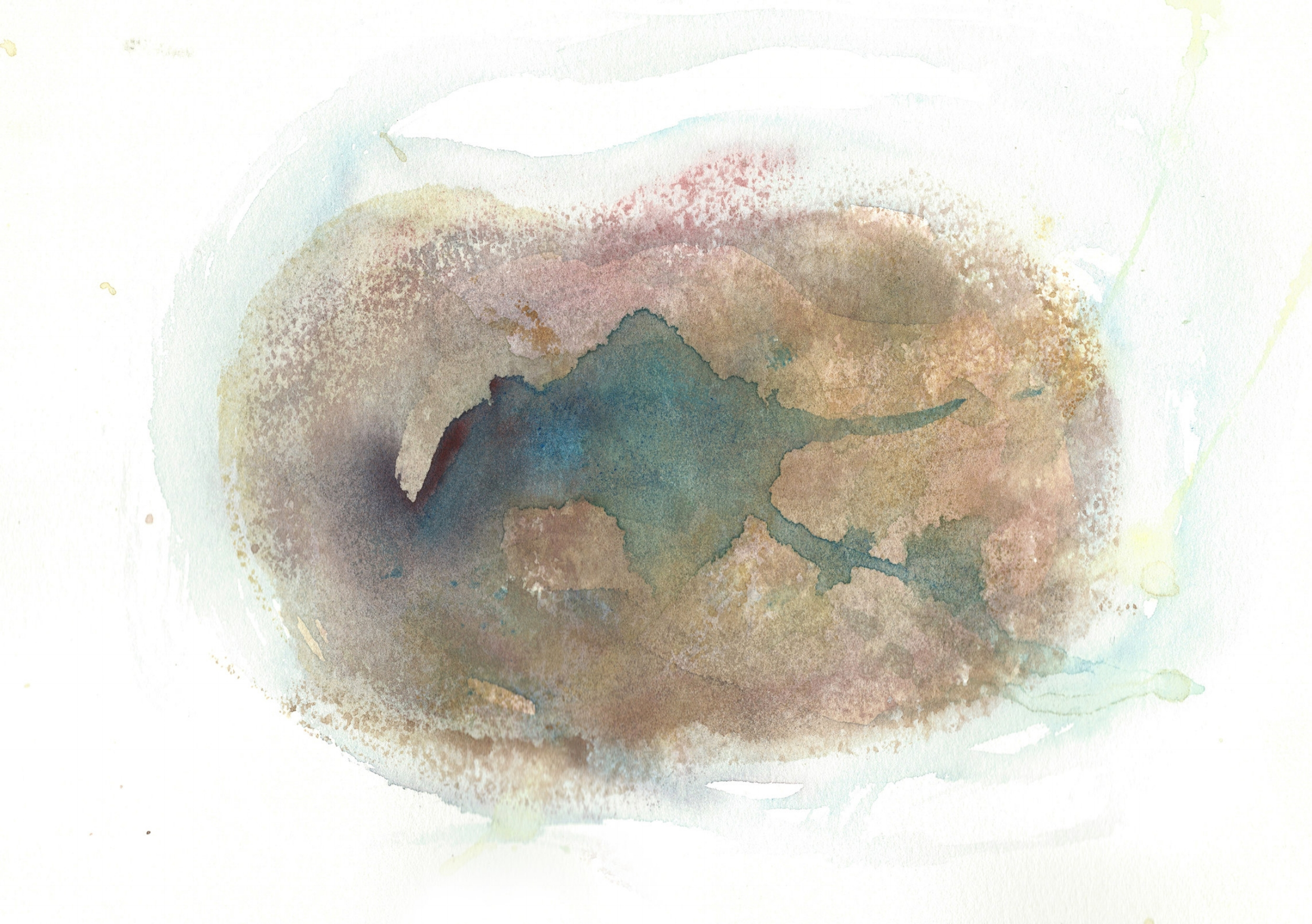Stephen Thomas, Yoga, Yoga-Svarupa, watercolor 16