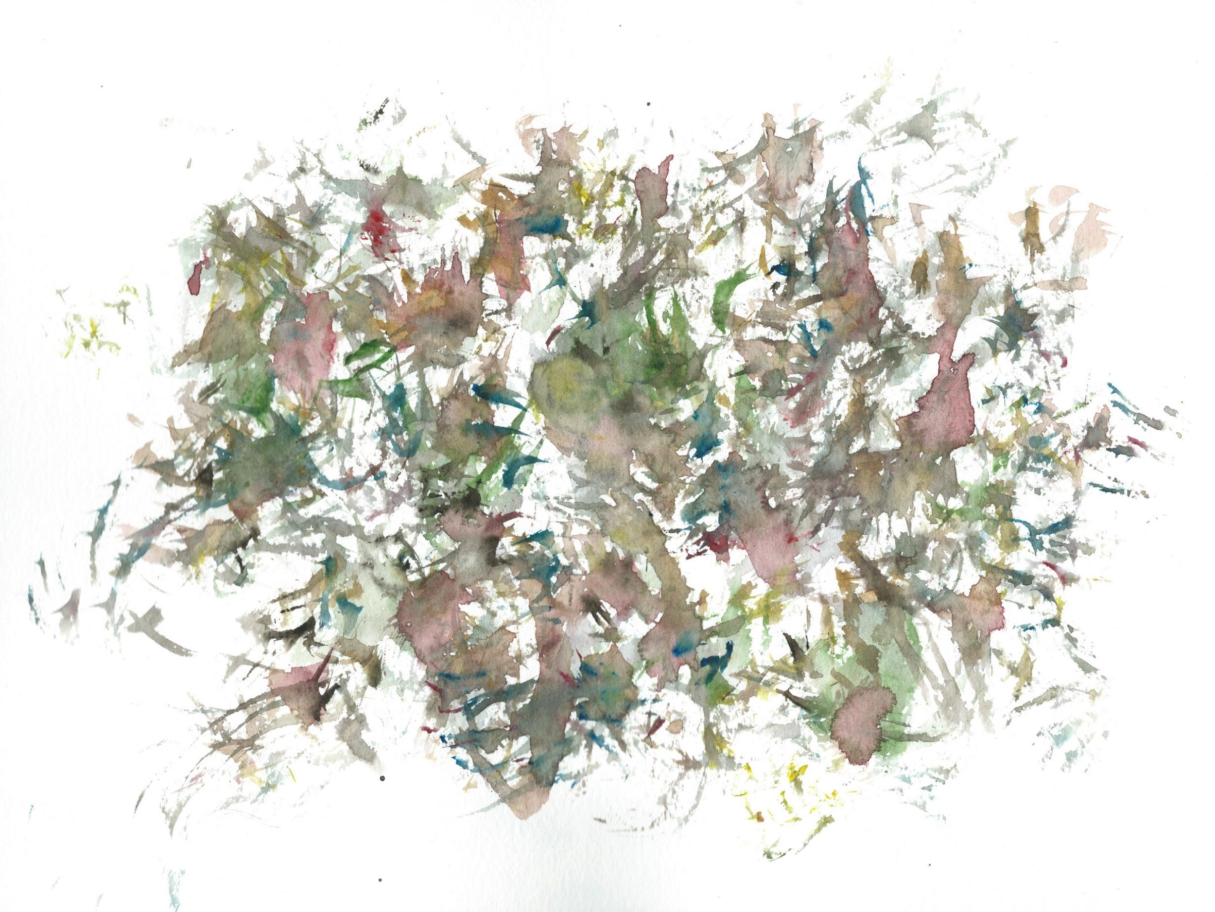 Stephen Thomas, Yoga, Yoga-Svarupa, watercolor 17