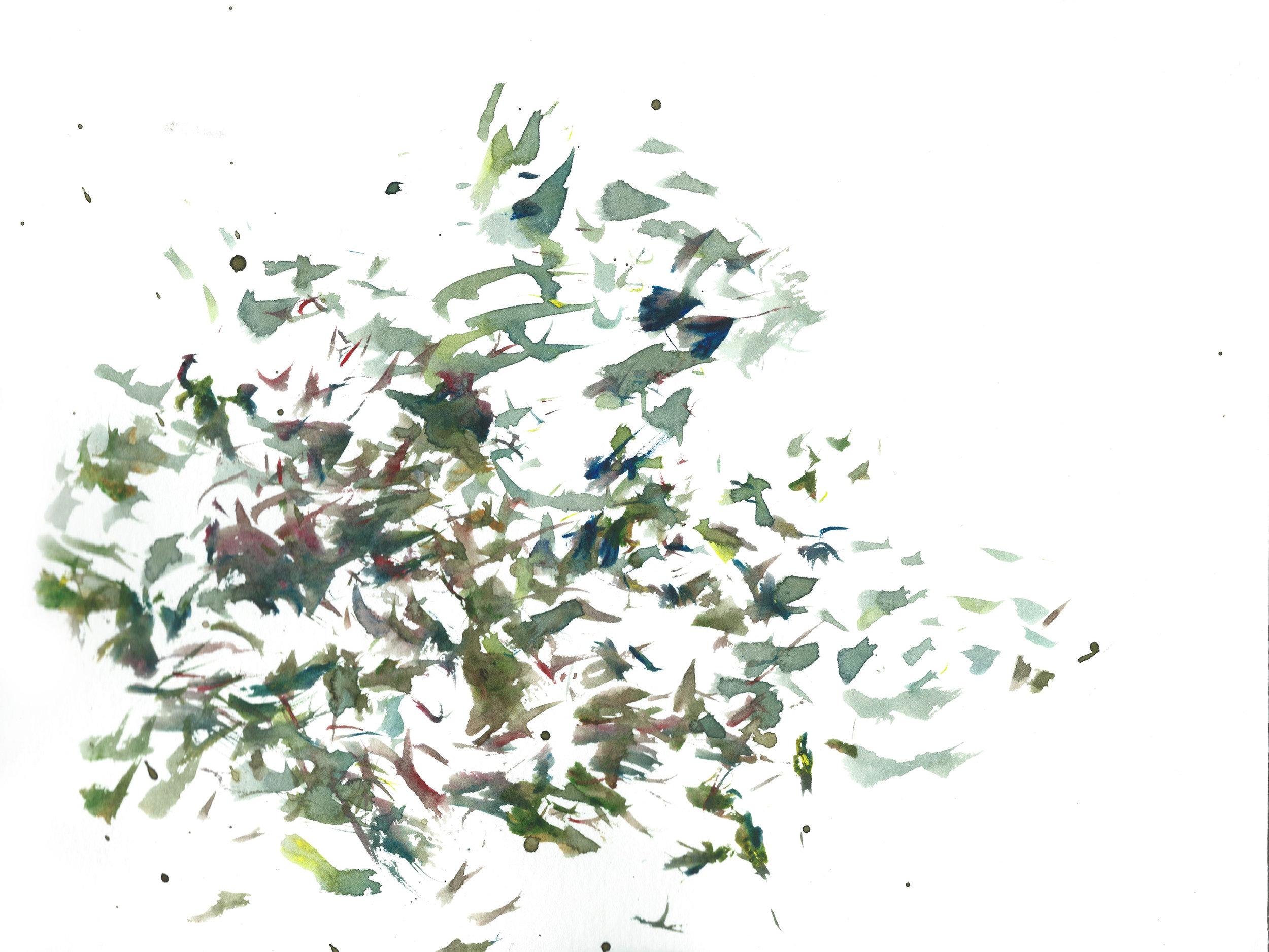Stephen Thomas, Yoga, Yoga-Svarupa, watercolor 18