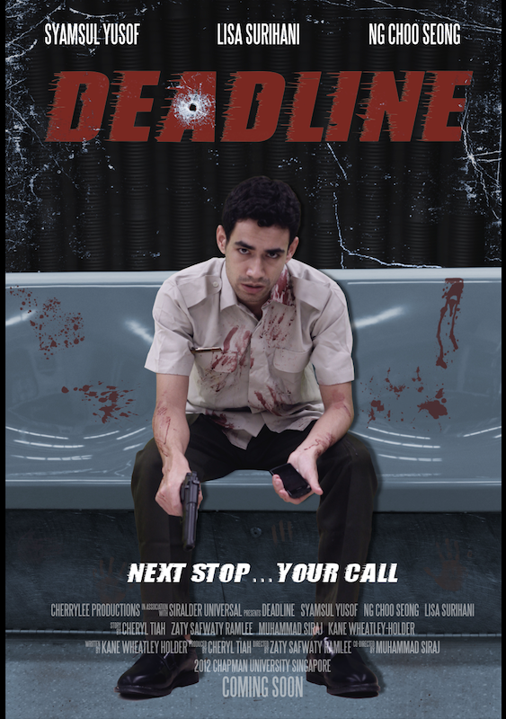 Back in University, I pitched a High Concept idea called DEADLINE -- a thriller about a clerk that has to save a carriage of people on an MRT train/train depot.