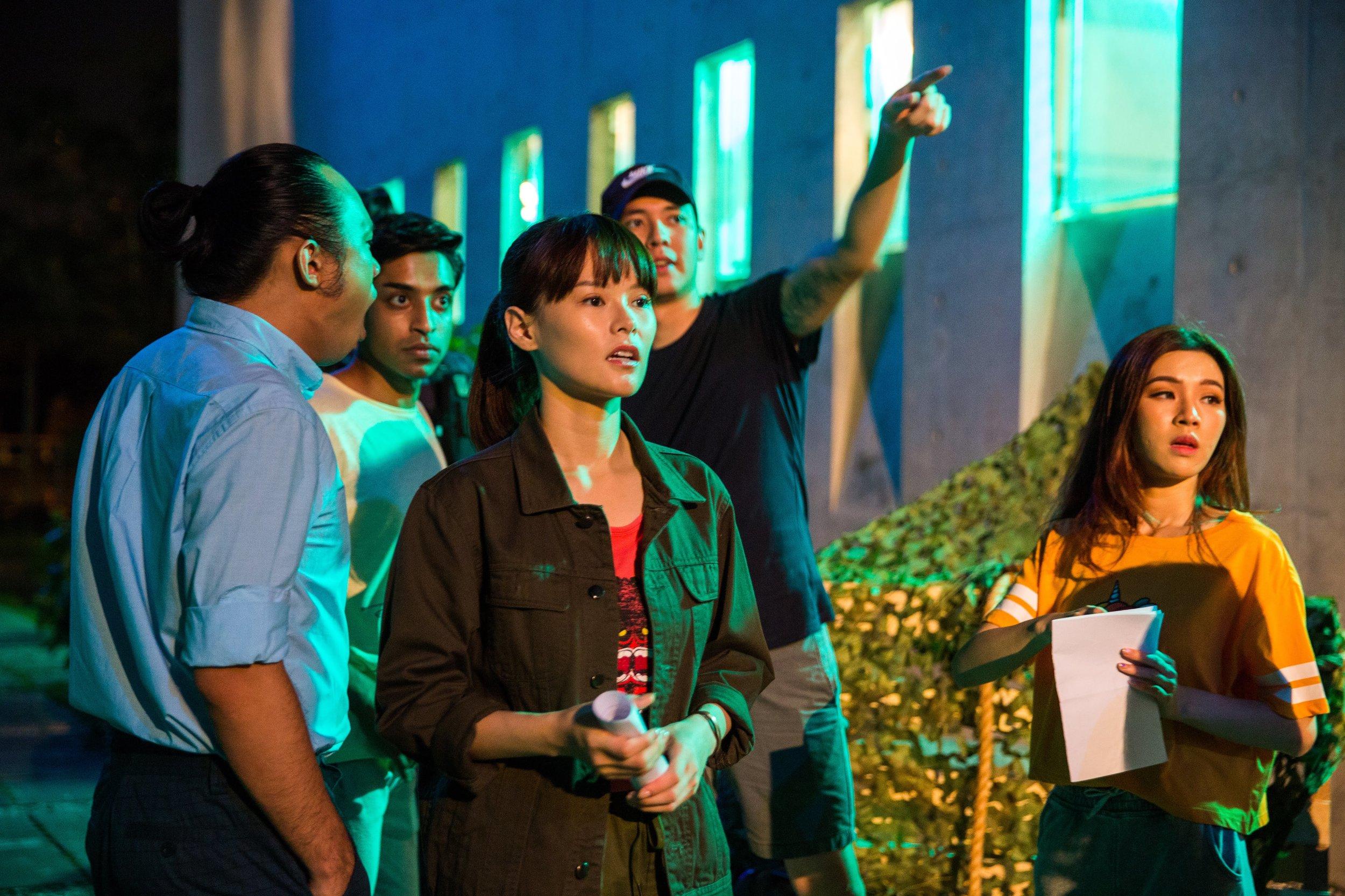 Nicholas Lo directing Jayley Woo, Nicole Changmin, Kishan J., Aaron Koo in episode 4.