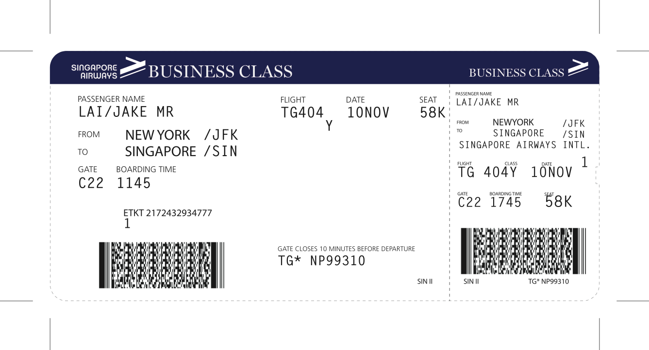 Adyznn, Glitch!'s production designer, created a detailed plane ticket for an important scene with Jake. Although not shown onscreen, it was a prop for the actor.