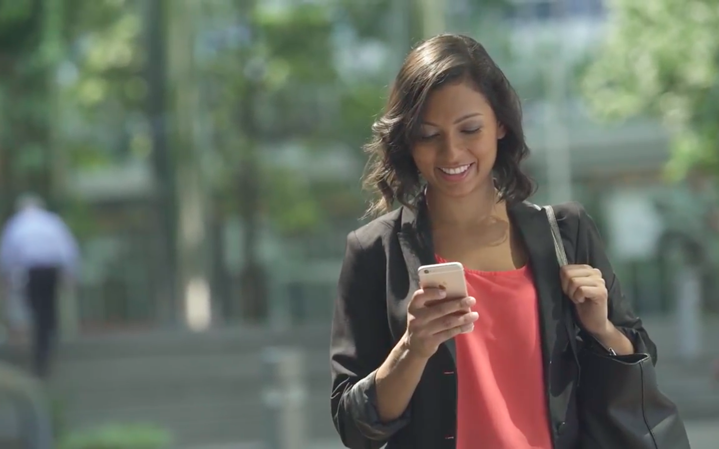 Screenshot from Anthem Blue Cross Mobile Health video