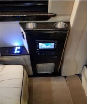 Custom Passenger Drink Holders with usb/electric