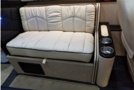 Sofa side cup holders/storage