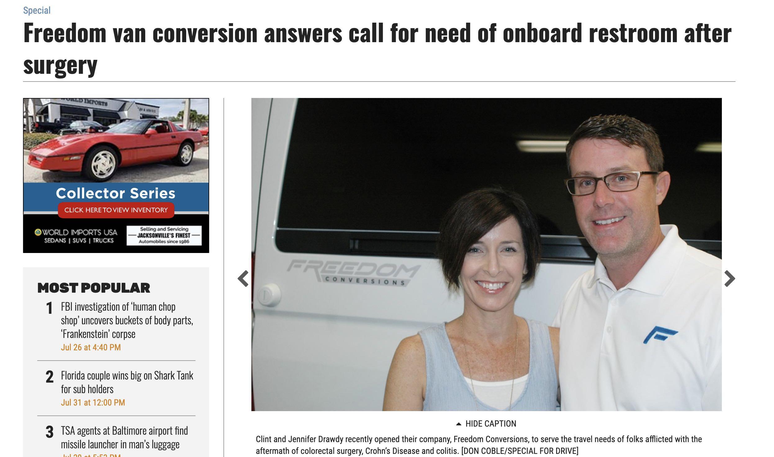 Florida Times Union - Freedom Conversions