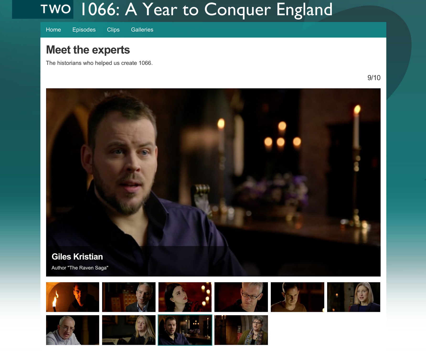 BBC Two history expert Giles Kristian