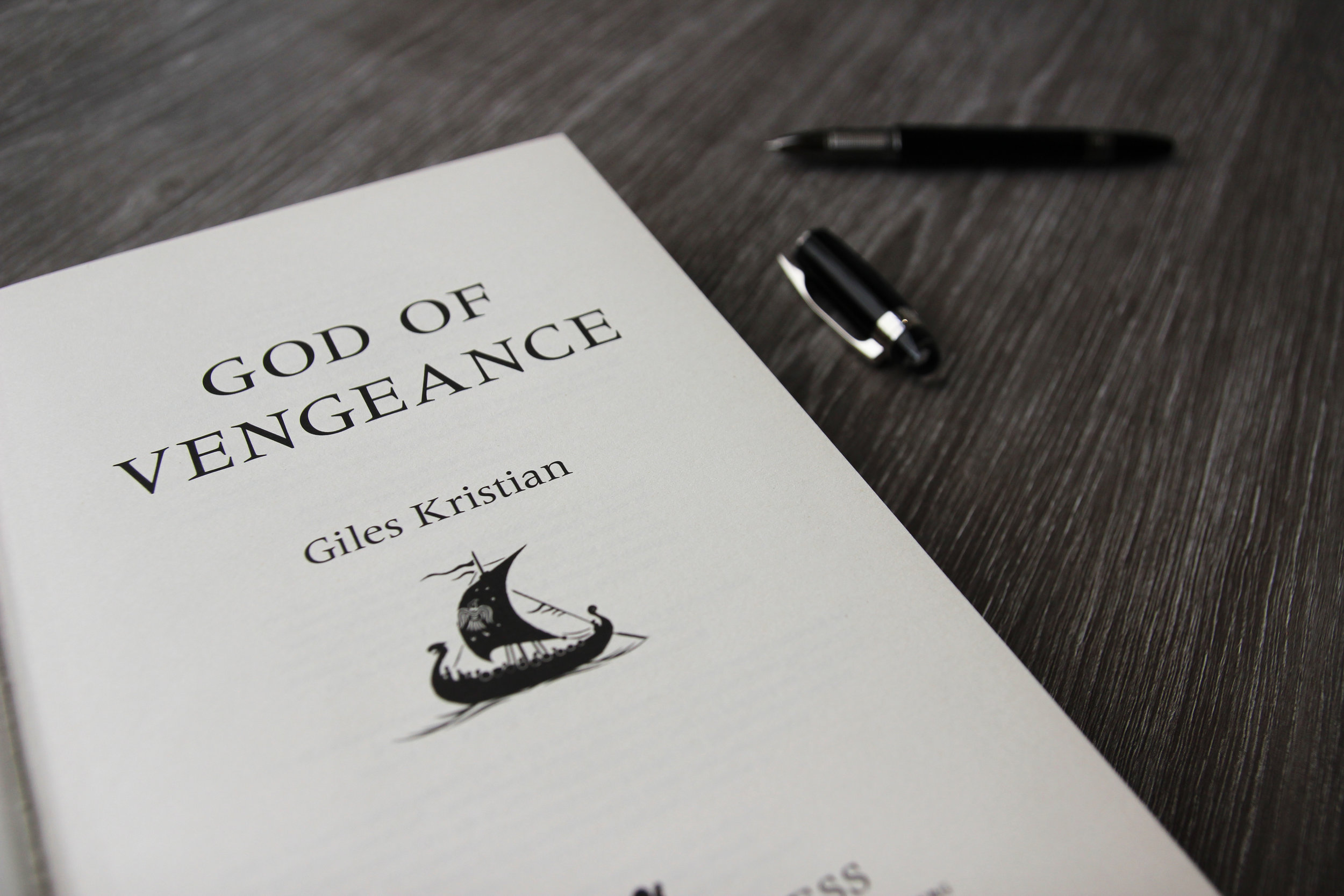 Signed copy of God of Vengeance By Giles Kristian