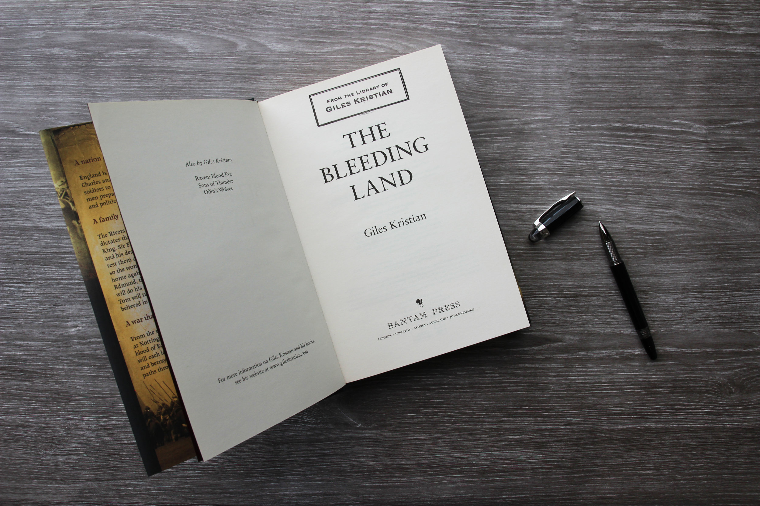 Signed copy of The Bleeding Land by Giles Kristian