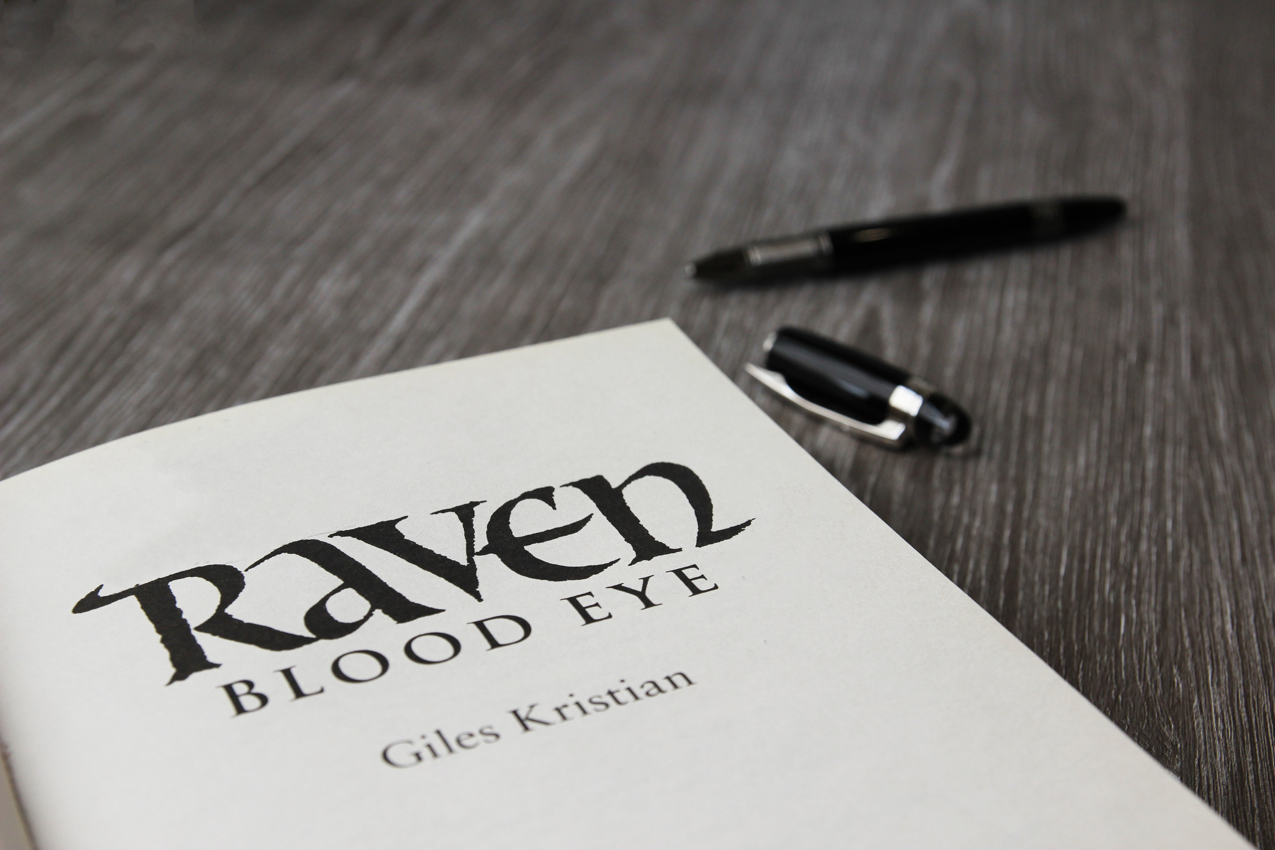 Signed copy of Raven Blood Eye by Giles Kristian