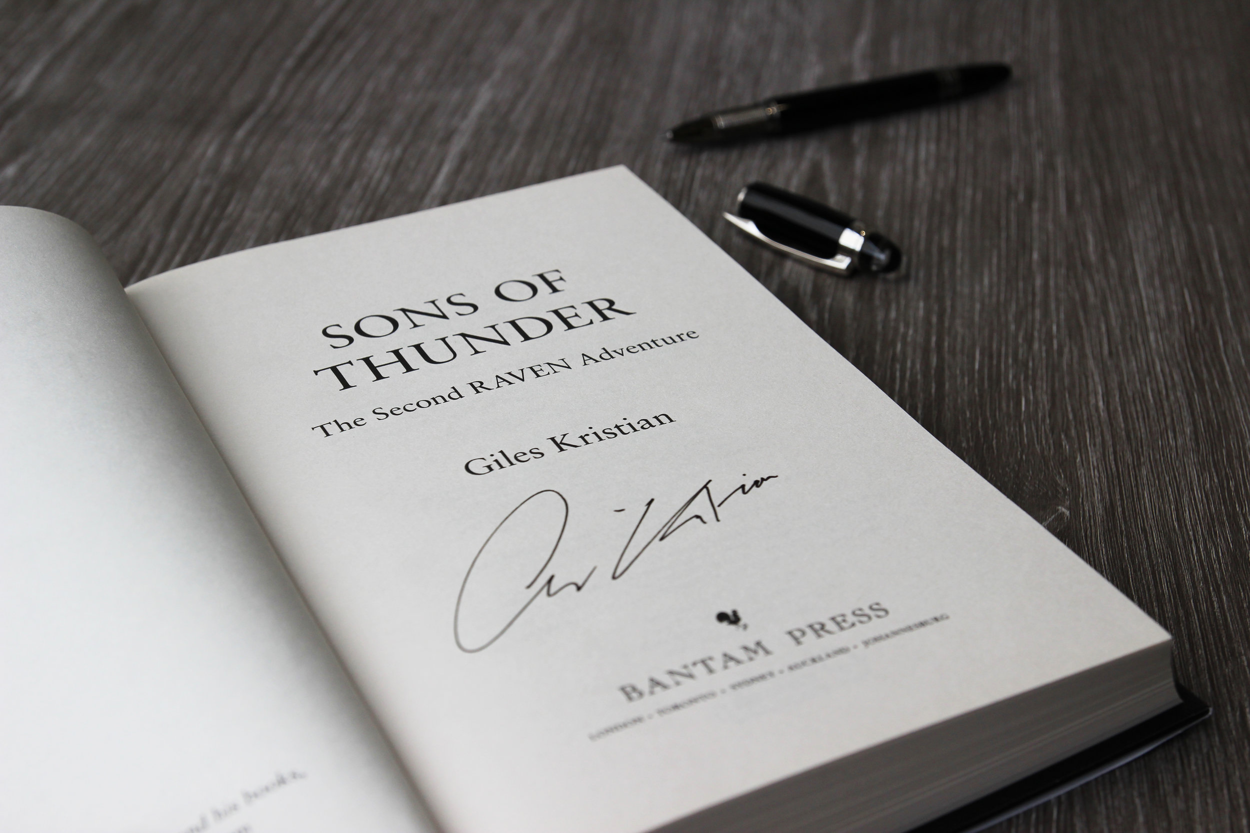 Signed copy of Sons of Thunder by Giles Kristian