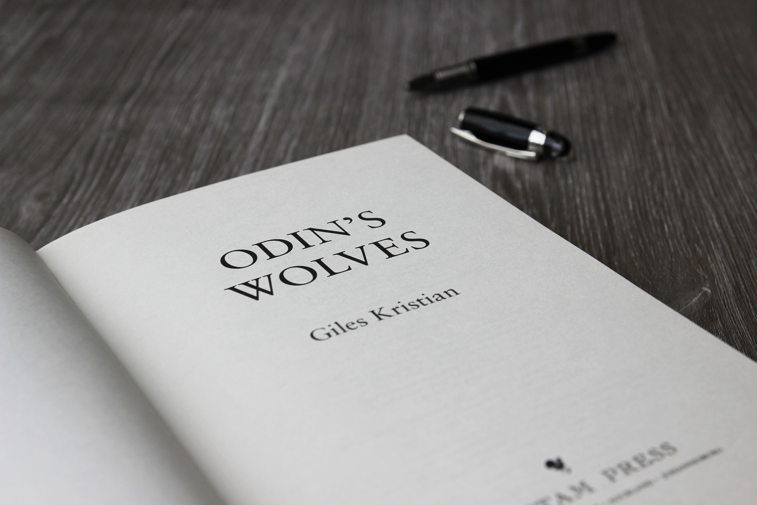 Signed copy of Odin's Wolves by Giles Kristian