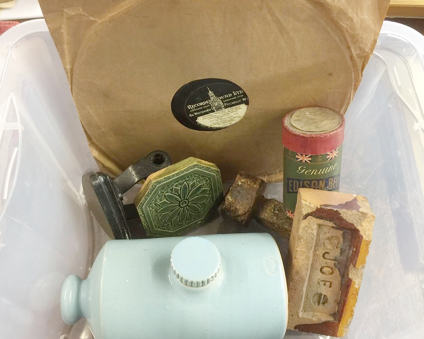 "An image of the ""Museum-in-a-Box"" containing memorabilia from the Museum"