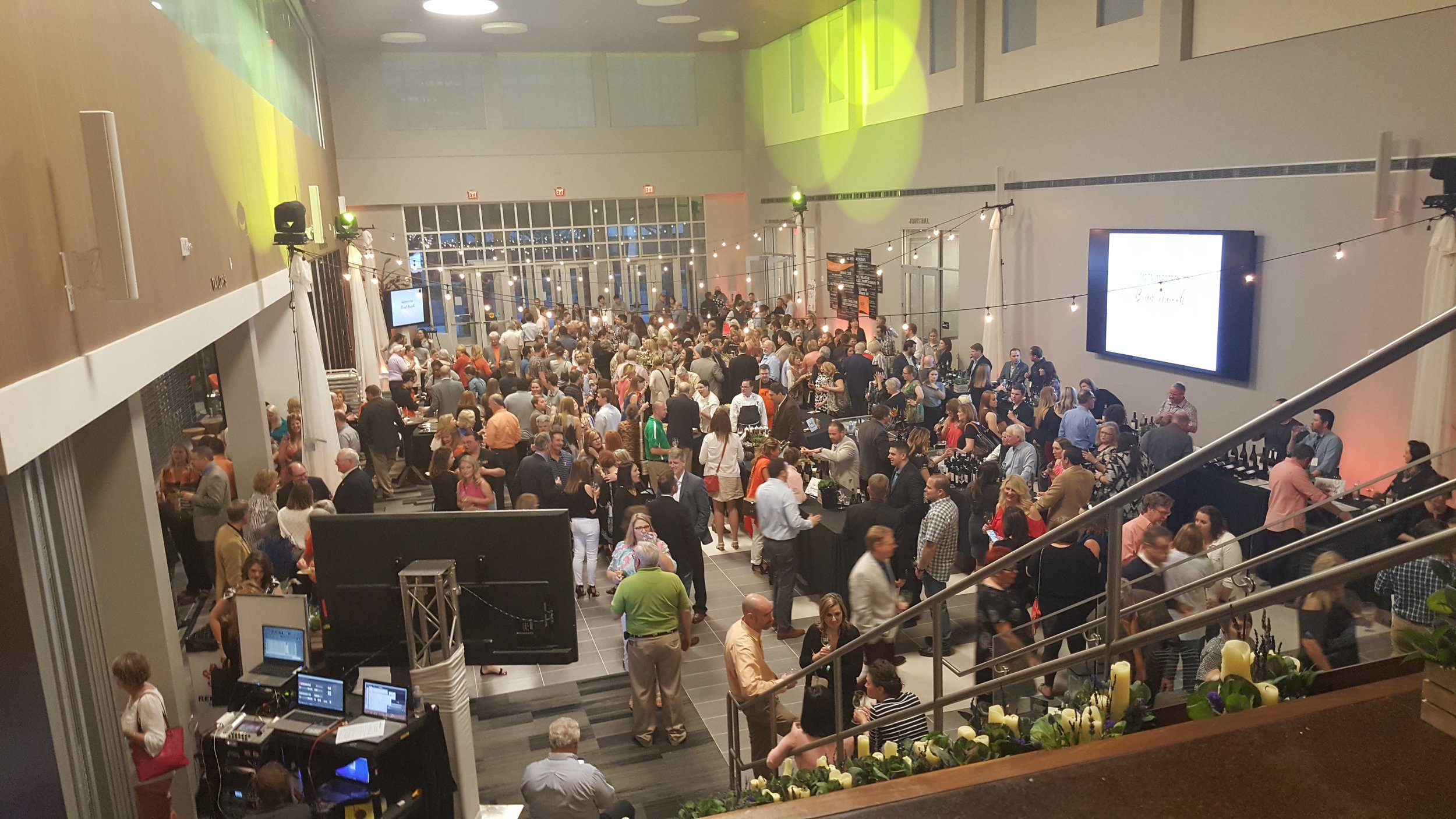 The Grand Tasting, hosted in the new Human Sciences building at Oklahoma State University