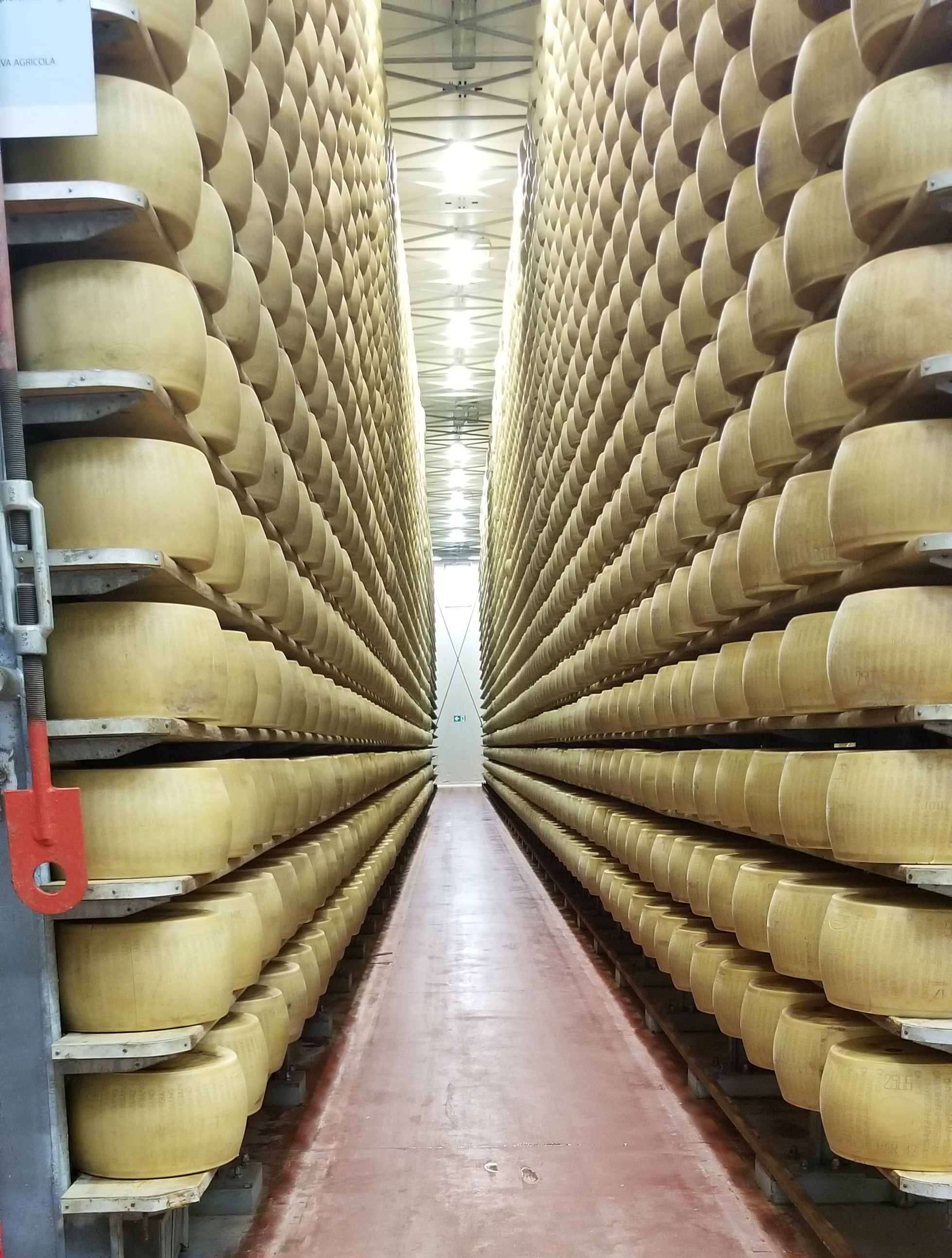 The 4 Madonne Caseificio has been rebuilt and is back to producing Parmigiano Reggiano, but imagine hundreds of thousands of these 80-pound wheels crashing to the ground.