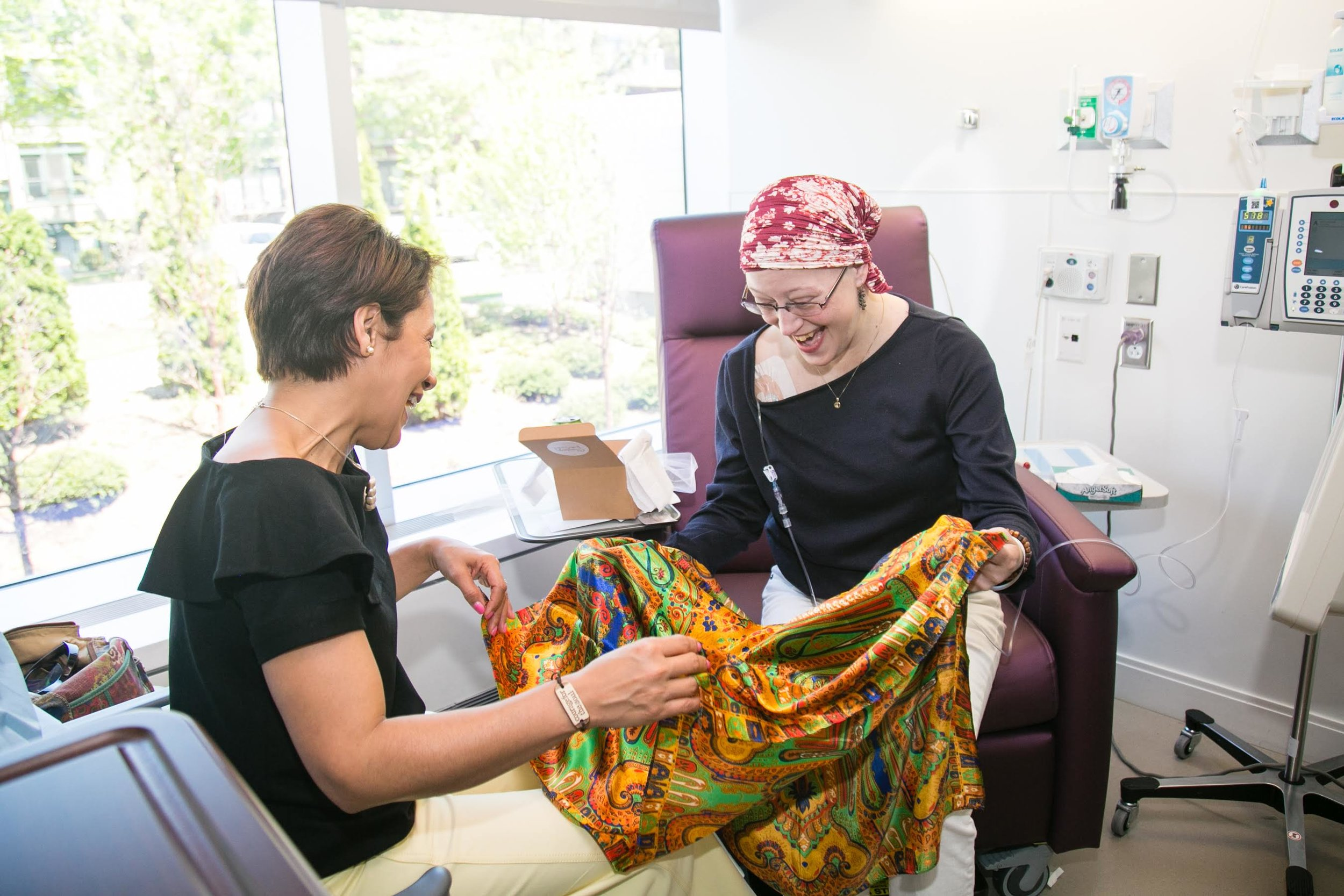If you are currently receiving chemotherapy treatment, you may request a  Scarf of Courage for Yourself.