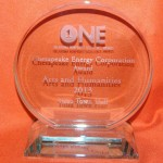 ONE AWARD - Oklahoma Center for Non-Profits awarded Tulsa Town Hall the 2013 ONE Award in the Arts & Humanities category