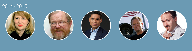 2014-2015  Jessica Fellowes,Bill Bryson, Fareed Zakaria, James Bradley, Will Shortz