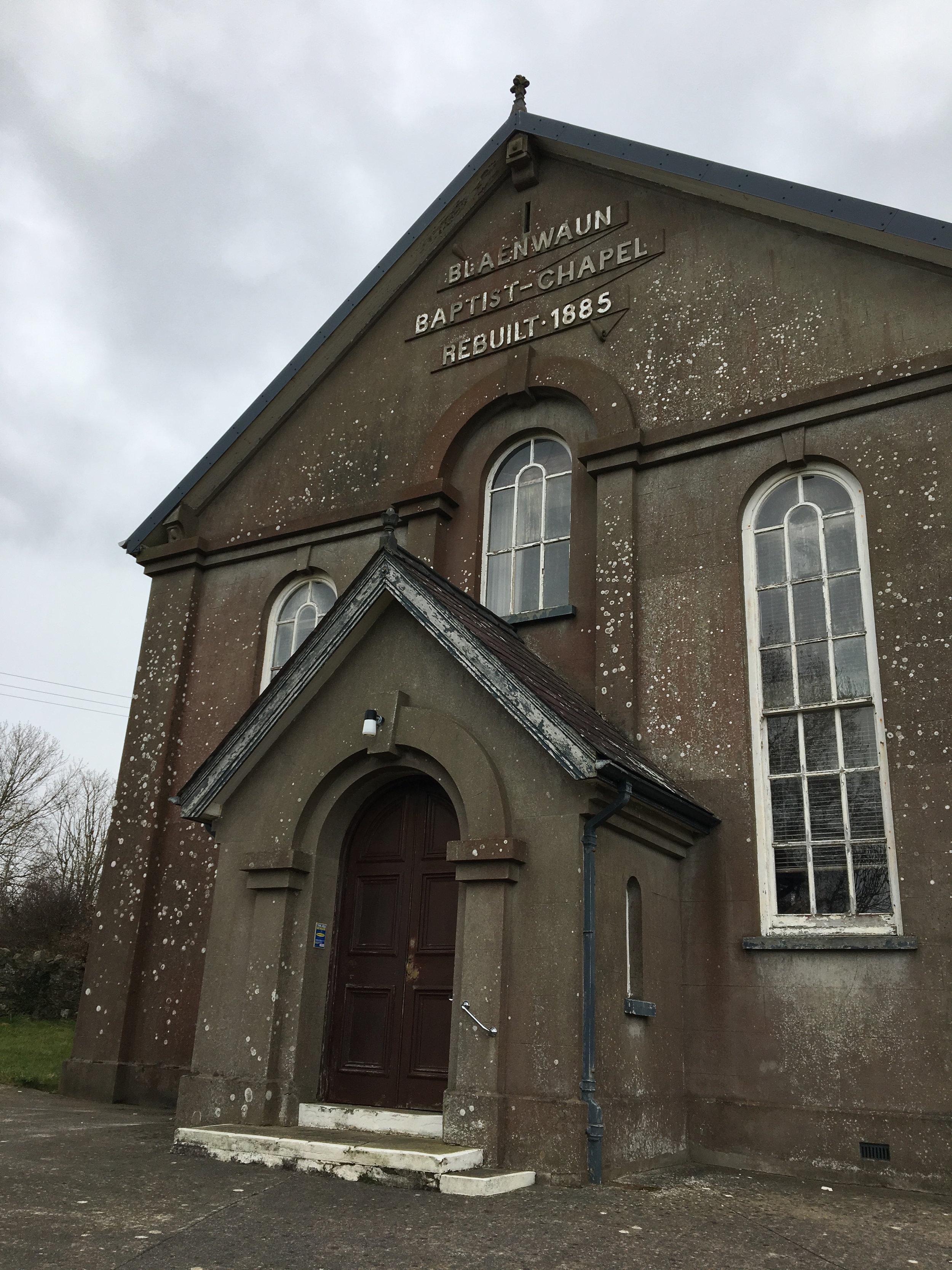 Capel Blaenwaun, Llandudoch, ger Aberteifi.  Blaenwaun Chapel, St Dogmaels, near Cardigan.