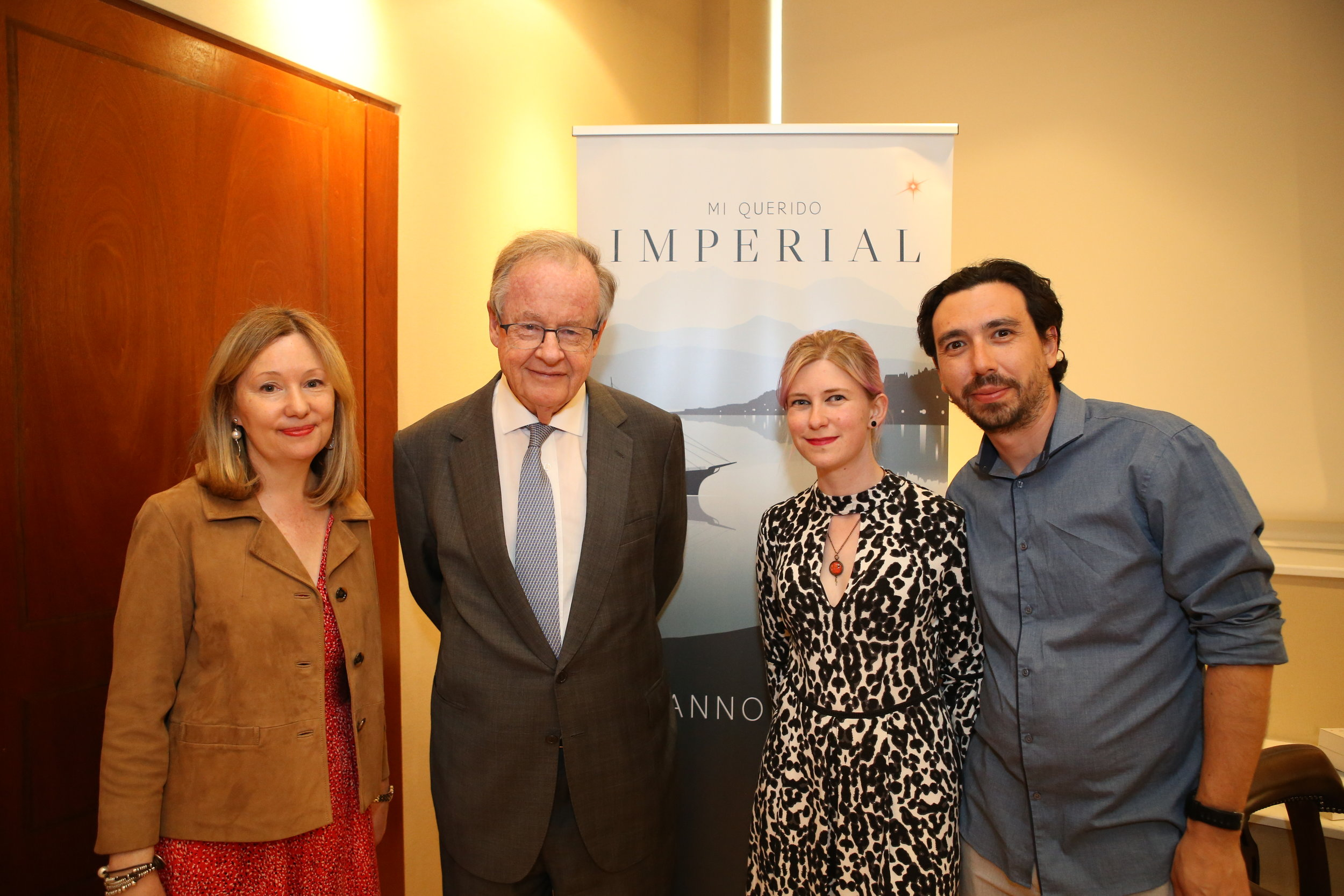 With the Ambassador, David Gallagher, and Sophie Lloyd-Owen and Jorge Vasques, from Victorina Press.
