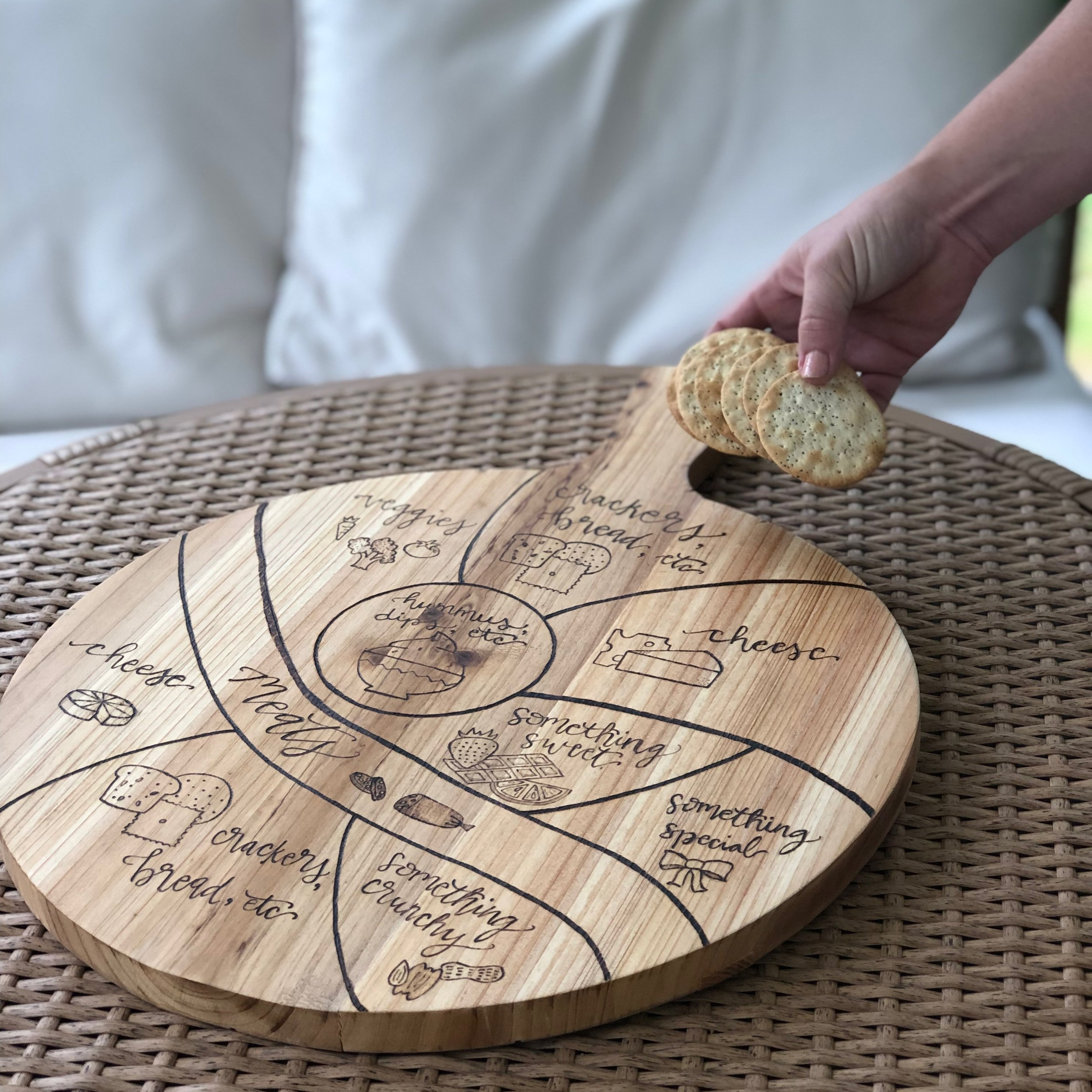 Woodburned Cheese Boards