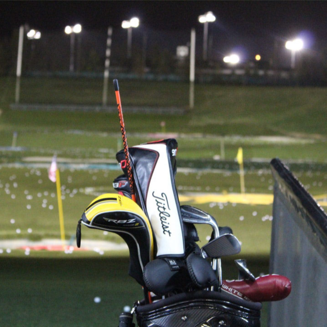 Golf Range Lighting - 8 Beacon LED Light Towers are needed to sufficiently light up a golf range at night