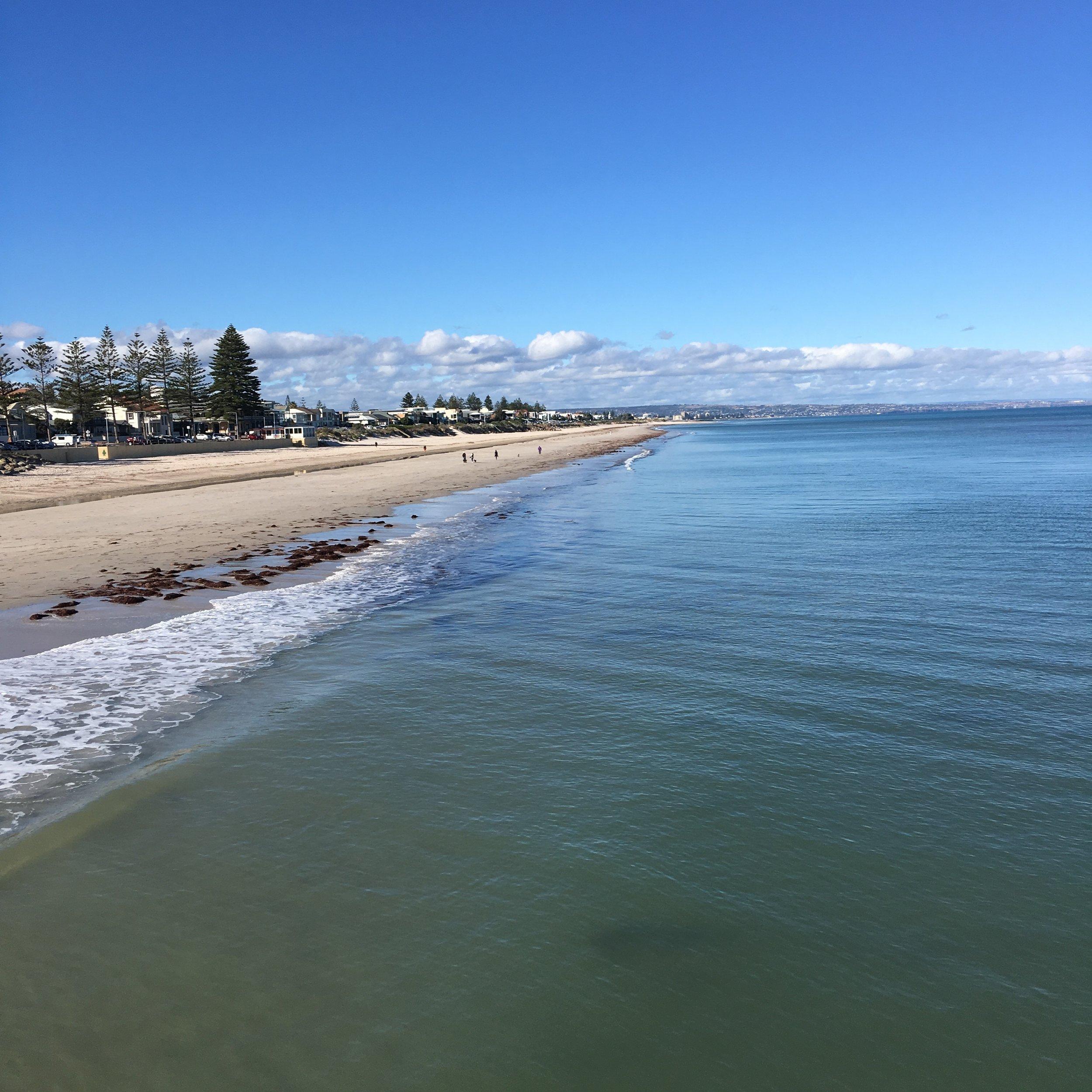 A beautiful autumn day down at the beach (Brighton, SA, Aus)
