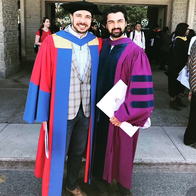 Hooded our first PhD! Congrats Rajiv! #phdfashion #convocation #wizardrobes