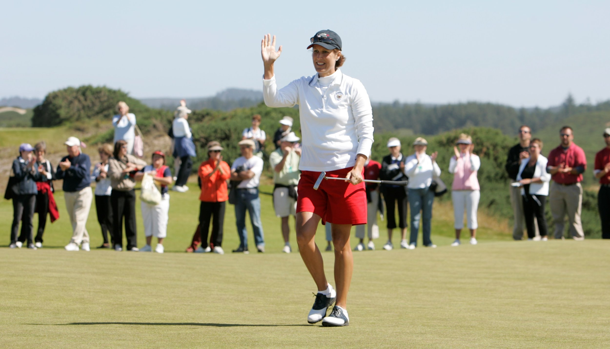 Virginia Derby Grimes, the 2018 U.S. Curtis Cup captain, is one of college golf's greats honored through the Derby Evans Experience. USGA photo