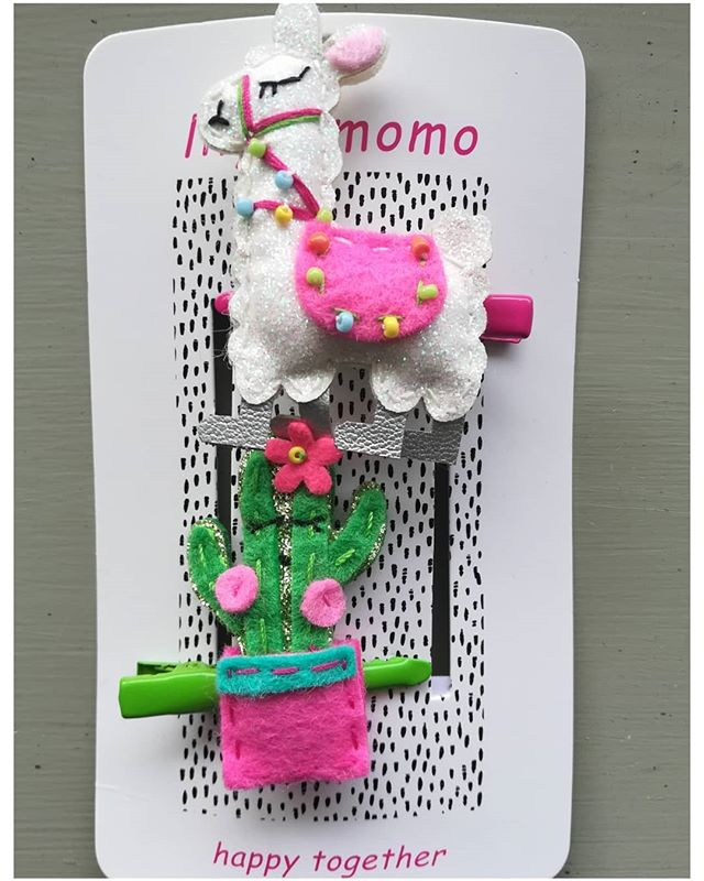 "We love this adorable ""No Drama Llama"" barrette, available at both Ann Arbor locations."