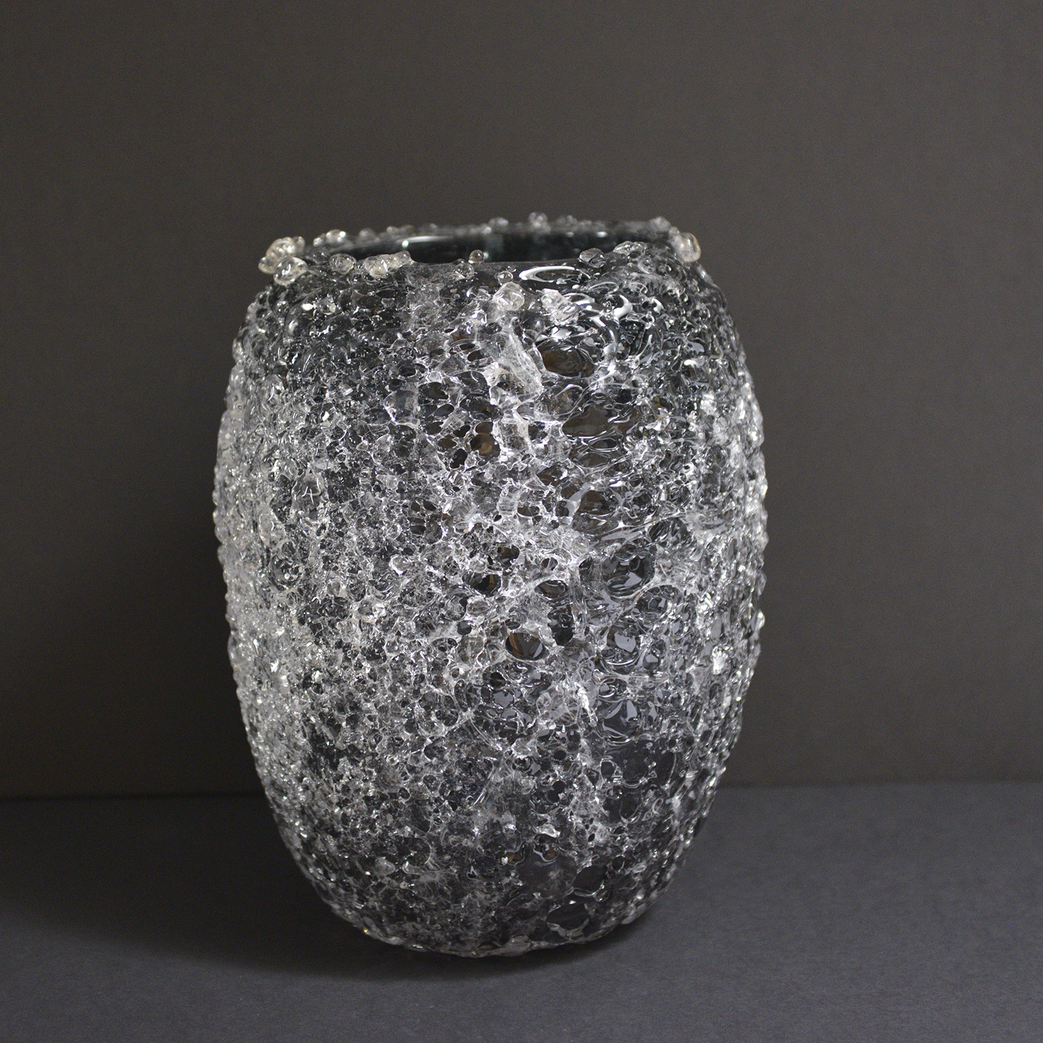 Gaïa™ Tall Candle Holder in Smoke