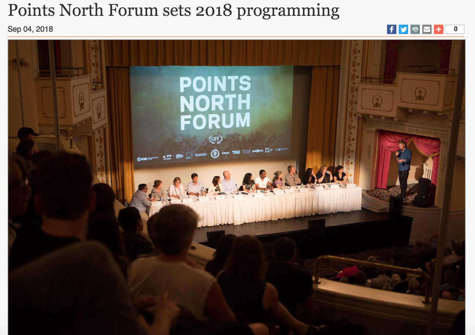 POINTS NORTH FORUM SETS 2018 PROGRAMMINGSeptember 4, 2018 | Knox Village Soup -