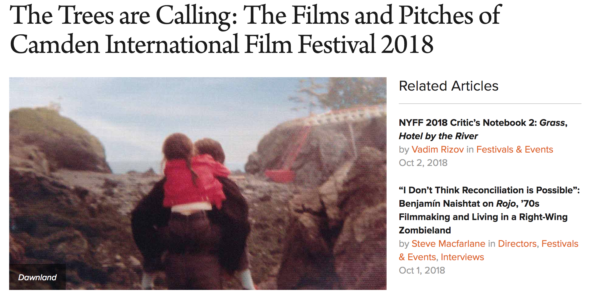September 25, 2018 | Filmmaker Magazine -