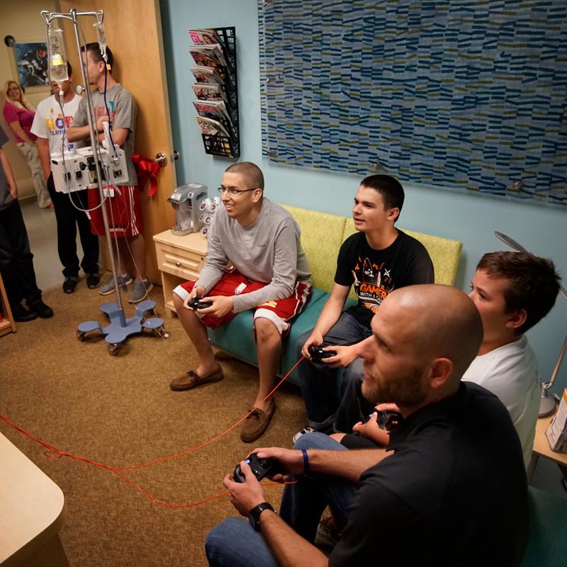 Teen Lounge at Johns Hopkins All Children's Hospital