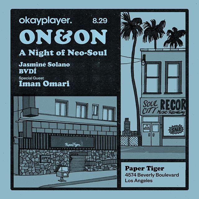 @okayplayer Presents: @onandon.lounge  w/ DJ set by @xojsmn & @somebadi  And special guest @iman_omari  #okayplayer #OKPis20 #vibemusiccollective