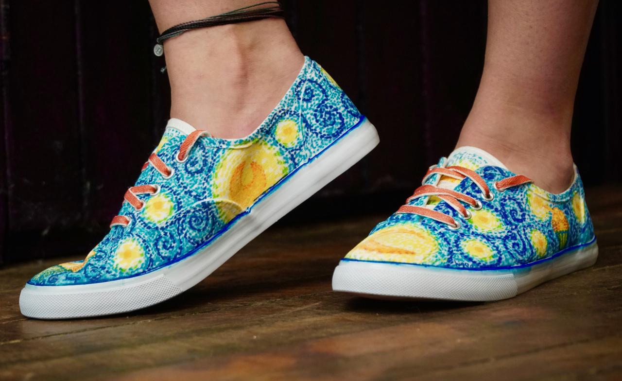 Higogoh Hand Painted Sneakers - Hilda Gabarron Ordorica
