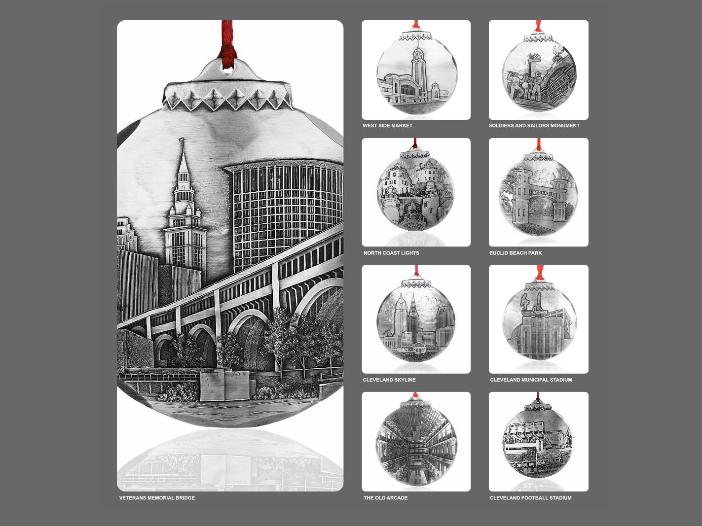 Cleveland Christmas Tree Ornaments - Jim Ptacek