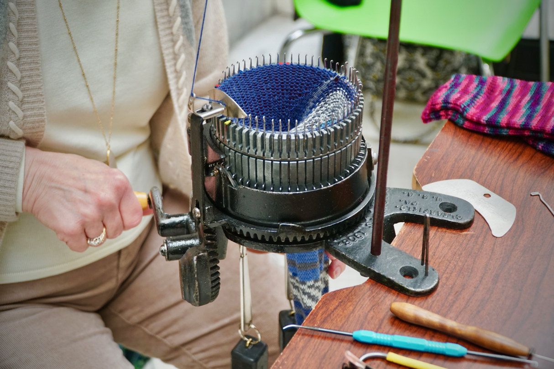 Pat Koharik - Antique Sock Making Machine