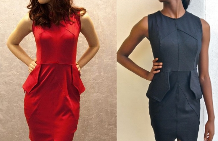 - Peplum Pocket DressGo from day to dinner in this stylish peplum pocket dress. Valerie Mayen created this flattering sleeveless sheath dress for a Project Runway challenge. The dress is constructed of a ponte double knit fabricRemaining Fra Angelica Studio inventory available in Red, Navy, Black, Creme.