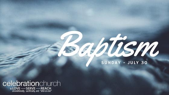 baptism sunday celebration church