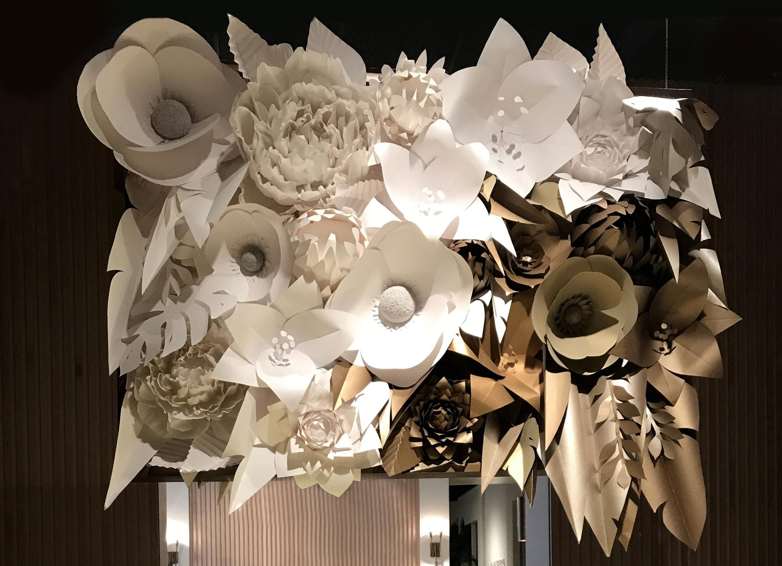 seven foot 3d flower art design and art direction