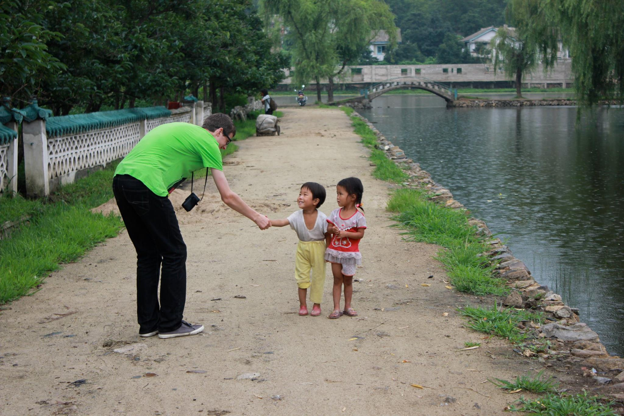 Building bridges in North Korea, 2013. I believe that to change, we must engage. Credit: Kelsey Ray.