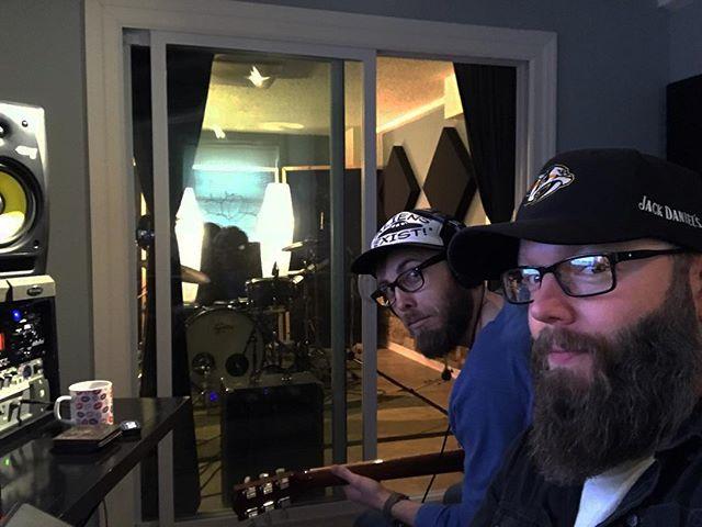 2 bearded weirdos tracking guitars!