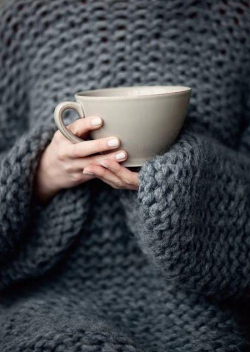 JOGBLiving Cosyjo grey jumper and mug