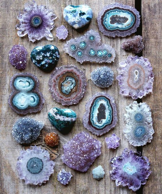 Turquoise and amethyst crystals for a feel good home