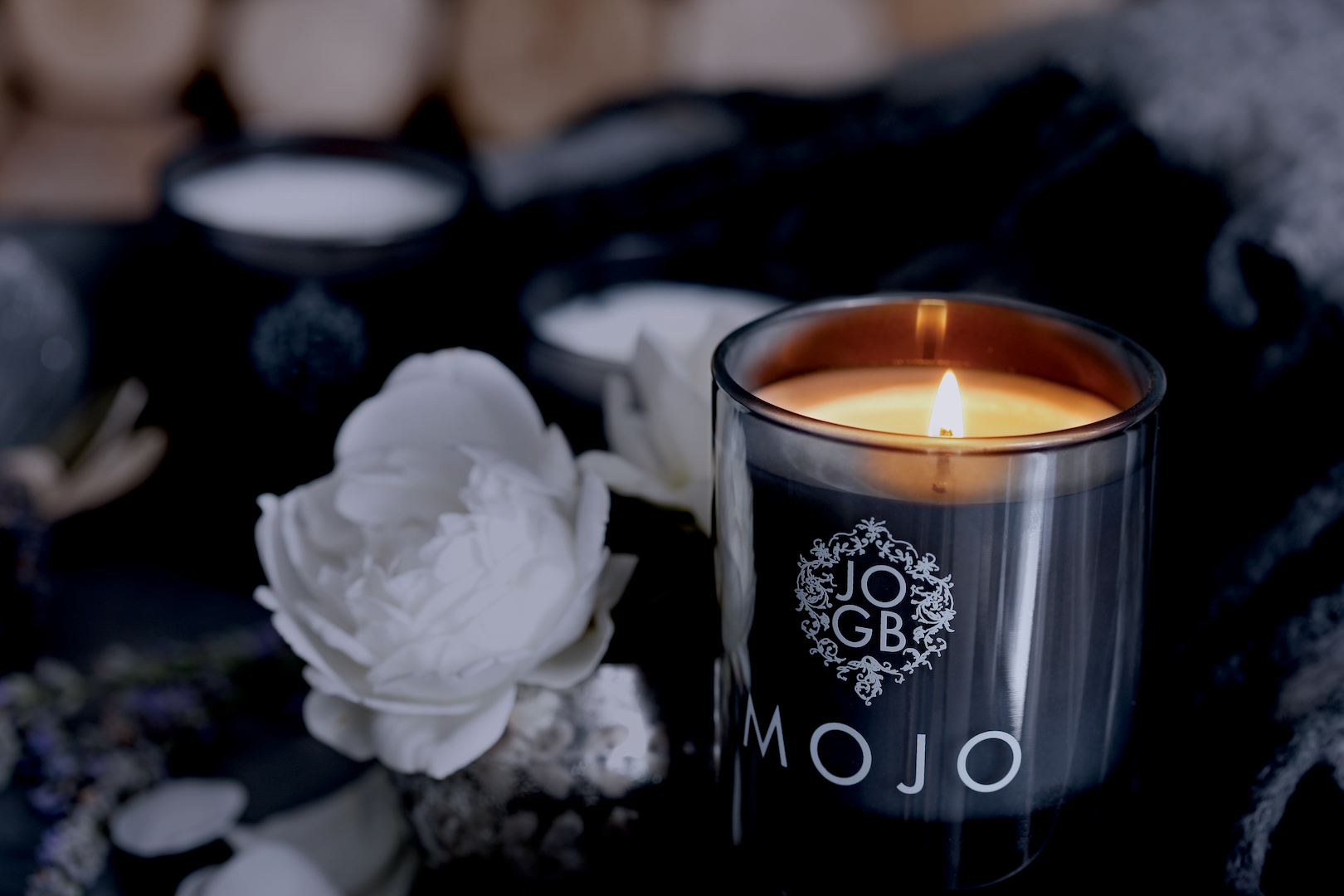 Candles - Our luxurious British artisan aromas are totally exclusive to JOGBLiving: consciously created using 100% plant essential oil fragrances in handmade botanical waxes designed to add harmony to your mood & your home.